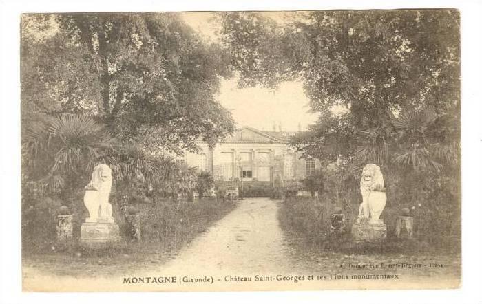 MONTAGNE (Gironde) - Chateau Saint-George et ses Lions Monumentaux, France, 0...