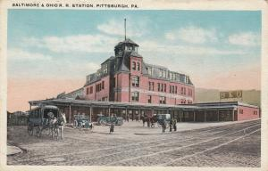 PITTSBURG , Pennsylvania , 1900-10s; Baltimore & Ohio Railroad Station