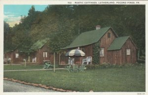 POCONO PINES, Pennsylvania, 1900-10s; Rustic Cottages, Lutherland