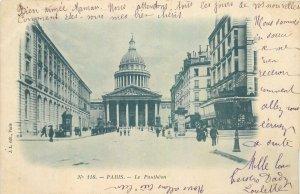 Vintage Postcard France Paris Le Pantheon