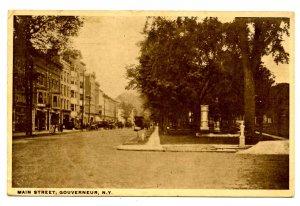 NY -  Gouverneur. Main Street circa 1920