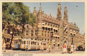Postkantoor, Post Office, Street Cars, Amsterdam, North Holland, Netherlands,...