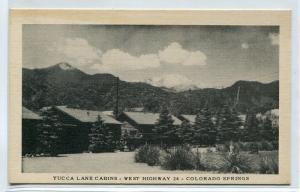 Yucca Lane Cabins Highway 24 Colorado Springs CO postcard