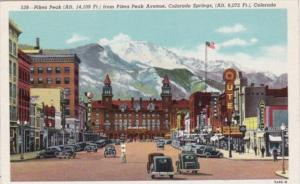 Colorado Colorado Springs Pikes Peak Avenue 1951