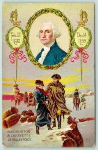 Patriotic~George Washington & Lafayette~Valley Forge~Portrait~1732-1799~NASH W9