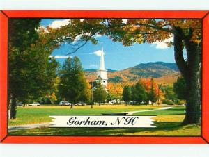 Gorham New Hampshire Crossroads of white mountains Steeple   Postcard # 8543
