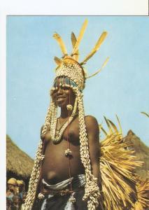 Postal 025110 : Boundiali. Danseuse Senoufo. Republique de la Cote d Ivoire