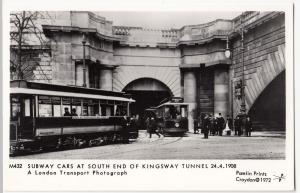 Subway Cars At South End Of Kingsway Tunnel, 1908 RP PPC Pamlin M432, Unposted