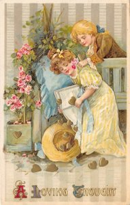 LP92  Valentine's Day Postcard Winsch Publisher Children Schmucker Artist