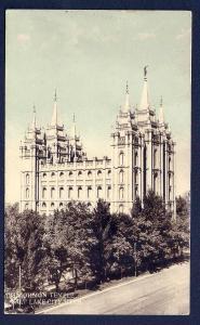 Mormon Temple Salt Lake City Utah unused c1915