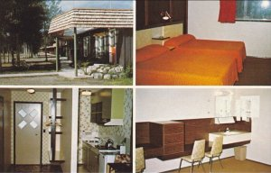 McBRIDE, British Columbia, Canada; 4-Views, Log-Tel Motel, 1940-60s