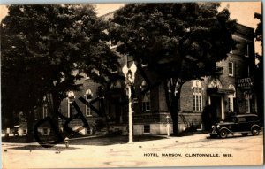1938 CLINTONVILLE WI Hotel Marson, to Helen Campbell, postcard jj002
