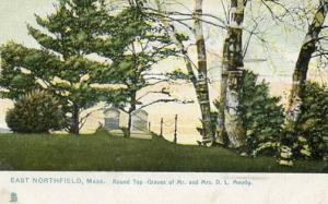 MA - East Northfield. Roundtop - Graves of Mr & Mrs Dwight L Moody