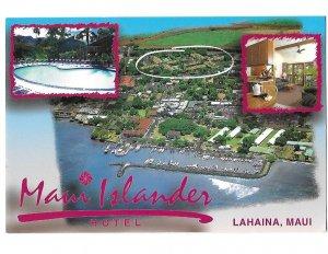 Aerial View of Lahaina, Maui Hawaii Maui Islander Resort Card 4 by 6