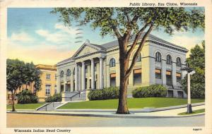 Eau Claire Wisconsin~Public Carnegie Library on South Farwell Street~1941 PC