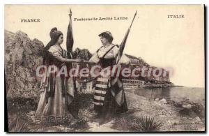 Old Postcard France Fraternal Amille Latin Italy