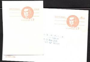 US Pre-stamped Postcard UX 93 Robert Morris