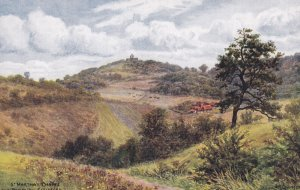 GUILDFORD, Surrey, England, 1900-1910s; St. Martha's Chapel From Pewley Hill