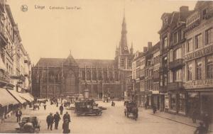 Belgium, Liege, Cathedrale Saint-Paul, early 1900s unused Postcard