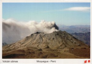 Moquegua Peru Volcano Dangerously Smouldering Postcard