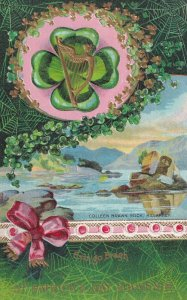 ST. PATRICK'S DAY, 1900-10s;Four-Leaf Clovers, Gold Harp, Colleen Brawn Rock,...