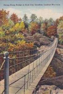 Swing Along Bridge In Rock City Gardens Lookout Mountain Tennessee