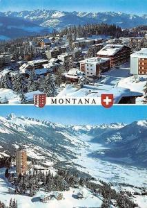 Switzerland Montana Winter Gesamtansicht, Mountains General view Panorama
