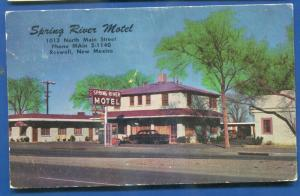 Roswell New Mexico nm Spring River Motel chrome postcard