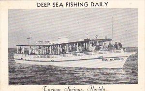 Forida Tarpon Springs Miss Milwaukee Deep Sea Fishing Boat
