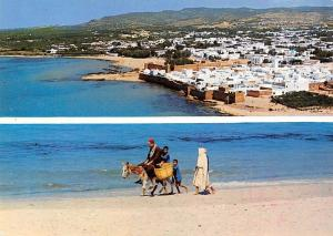 Tunisia Hammamet Tunisie Riding Donkey Beach General view