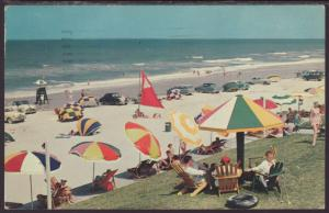 Beach Scene,Ormond Beach,FL Postcard BIN