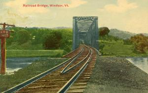 VT - Windsor.   Railroad Bridge