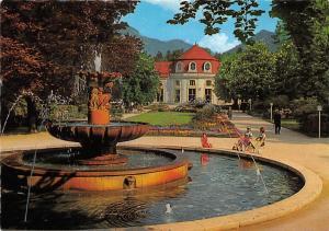 GG1491 kurpark bad reichenhall salebrunnen mit wandelhalle    germany