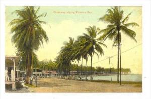 Causeway edging Panama Bay, Panama, 00-10s