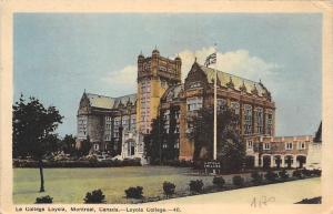 Canada Montreal Loyola College 1946