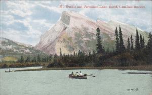 Mt. Rundle and Vermillion Lake, BANFF, Canadian Rockies, Alberta, Canada, 00-10s