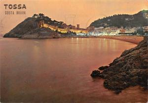 Spain Tossa de Mar Costa Brava, Sunset Bello Atardecer Panorama