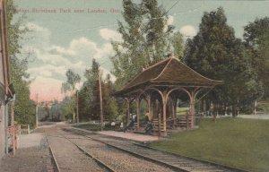 LONDON , Ontario , 1907 ; Trolly Car Station , Shrinbank Park