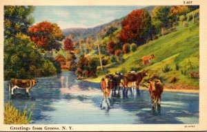 New York Greetings From Greene 1939 Curteich