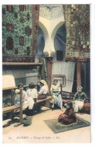 Tissage de Tapis Carpet Weavers ca 1910 Algiers LL Postcard