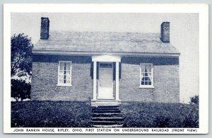 Ripley Ohio~Abolitionist John Rankin House~Underground Railroad Station~1950 B&W