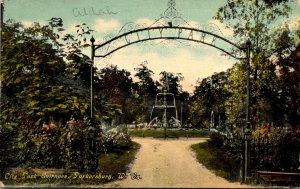 West Virginia Parkersburg City Park Entrance 1909 Curteich