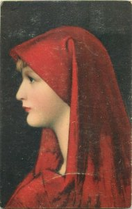 Stengel art postcard JEAN JACQUES HENNER Fabiola