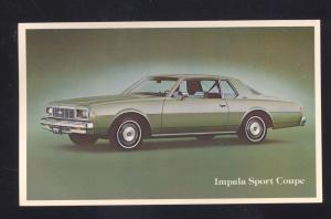 1976 CHEVROLET IMPALA SPORT COUPE VINTAGE CAR DEALER ADVERTISING POSTCARD