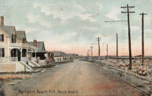 LPS47 Hampton Beach New Hampshire North Beach Vintage Postcard