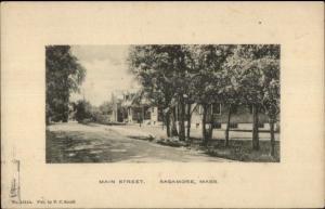 Sagamore Beach Cape Cod MA Main Street c1910 Postcard