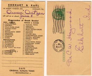 Ehrhart & Karl, Alfalfa Tonic, Chicago Ill