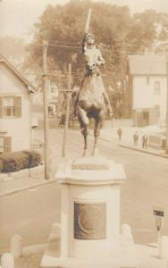 RP, Soldier With A Sword on a Horse Statue, 1900-10s