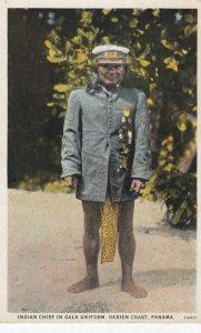Indian Chief in gala uniform , Darien Coast , Panama , 1910s
