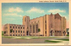 North Dakota Grand Forks United Lutheran Church Curteich